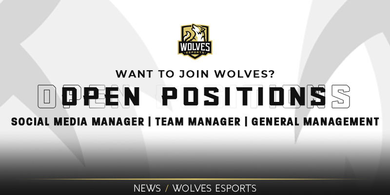 Open Positions at Wolves