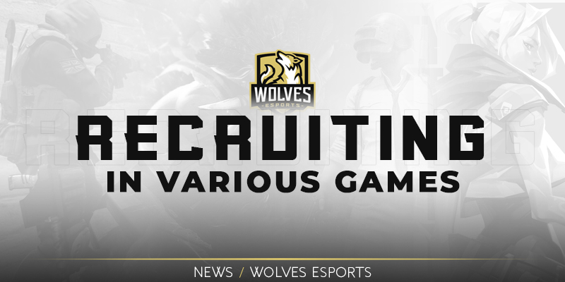 Wolves is recruiting